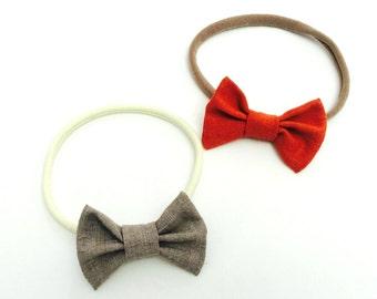 Nylon Headbands Set, Baby Headbands, Baby Girl Headband, Baby Hair Bows, Newborn Headband, Baby Bows, Baby Headband Bows