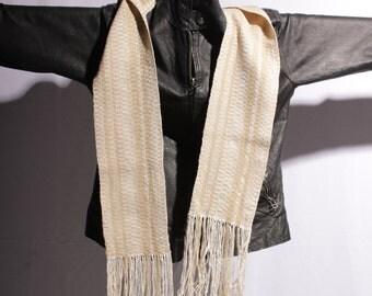Straight Fringe Silk Scarf