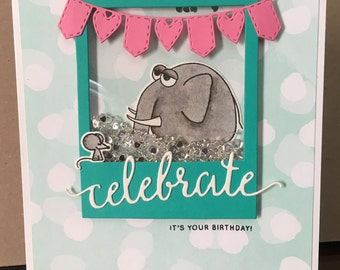 Birthday Shaker Card (Elephant)