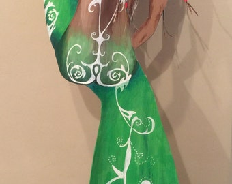 Hand Painted Palm Art