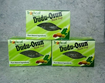 2 BAR of Dudu Osun Bar Soap 4.5- 5 oz each Pure Natural with Honey and Shea Butter