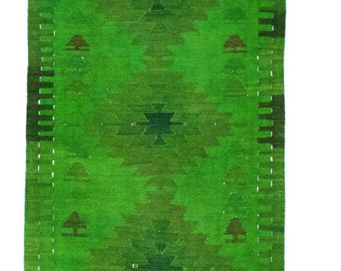 143 cm x 79 cm/ 4,7 x 2,6 ft / Free Shipping* VINTAGE OUSHAK KILIM - Turkish Vintage Kilim Rug - Turkish Rug Kilim - Vintage Mut Kilim