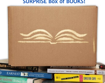 Mystery Box of Books, Surprise Box - I'll Fill a 12x12x8 Box full of Modern Books (20lbs), Instant Library, Gifts for Book Lovers, Lucky Dip