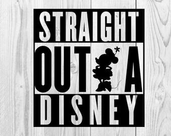 Straight Outta Disney Design, Minnie, Mickey, Disneyland, Disneyworld,  Disney Vacation, Straight Outta Disney, SVG File, Cricut Design