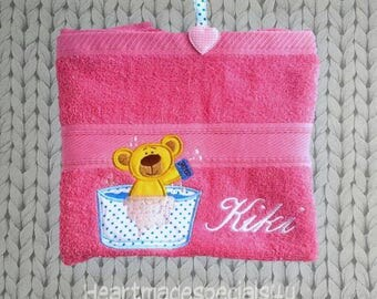 Personalized towel with application, name, text or both