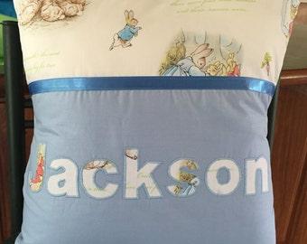 Hand-made applique cushions