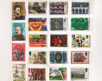 20pc Great Britain Postage Stamps