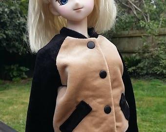 BJD 1/3 SD Dollfie Dream, Smart Doll velvet Bomber Jacket