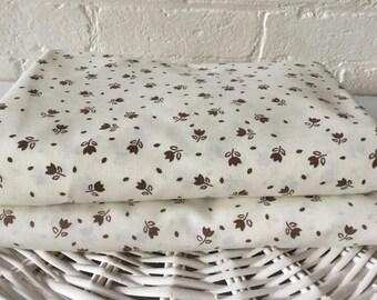 Vintage pair of single flat floral sheets Made in Australia Vintage fabric Vintage bedding