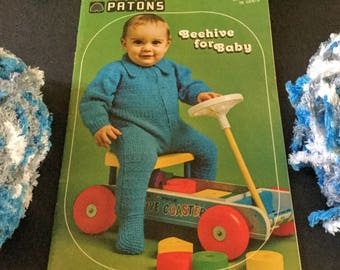 Vintage: 2 Books -Patons Beehive Knitting and Crocheting Pattern Books For Baby|Book No. 133 and Book No. 150|Beehive for Baby|Baby Fashions