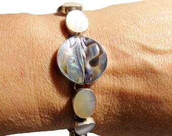 Beautiful Bracelet in 925 sterling silver natural Pearl
