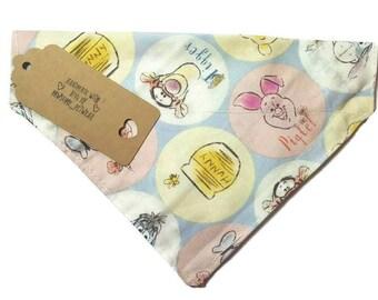 Winnie The Pooh Pet Bandana, dog bandana, cat bandana, dog accessories, pet accessories, Winnie the pooh dog bandana, dog scarf, cat scarf