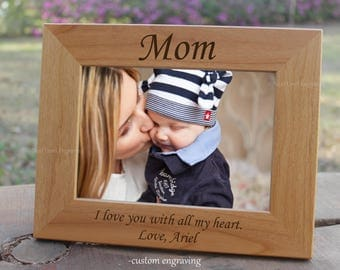personalized gift for mom wooden picture frame mom picture frame mom frame wood frame - Mom Frames