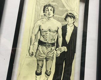 Rocky and Adrian / post it note art