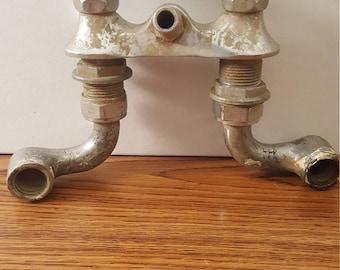 Vintage (c. 1950's) Double Chrome Faucet