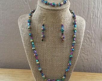 42: Necklace, Bracelet, Earrings Set
