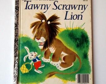 Little Golden Book - Tawny Scrawny Lion - 1980 - Vintage Children's Book