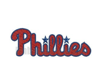 Baseball embroidery design - (Philladelphia Phillies) - instant DOWNLOAD digital file