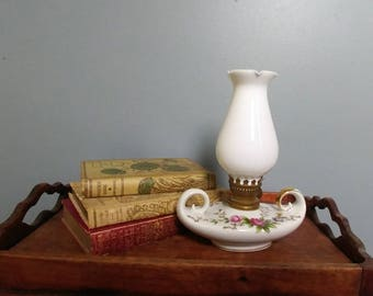 Vintage Porcelain Genie Lamp // Nippon Yoko Boeki Hurricane Lamp