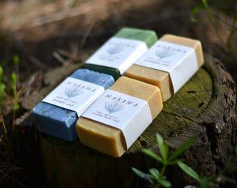 Pack of four organic vegan soaps