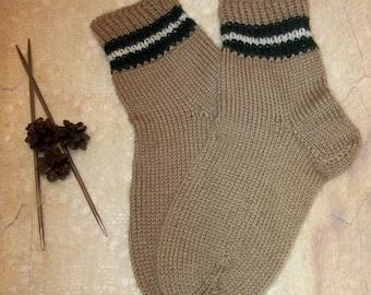 Classic wool socks Hand knitted wool socks Knitted socks Knit socks
