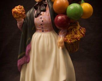 Royal Doulton Biddy Pennyfarthing Figurine Balloon Woman