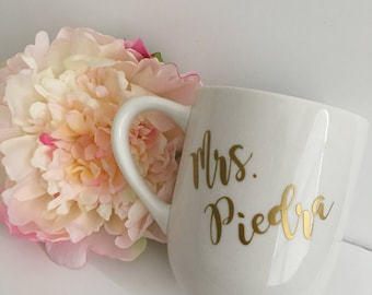 Personalized Coffee Mug- Custom coffee mug- Coffee mug - future Mrs coffee mug- wedding coffee mug- engagement gift idea - just married mug