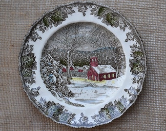 Johnson Bros Friendly Village Schoolhouse Dinner Plate Made in England