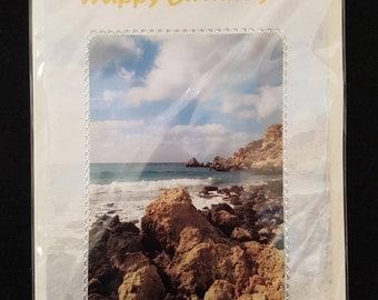 Handmade Card Beach Scene Photograph Birthday Card
