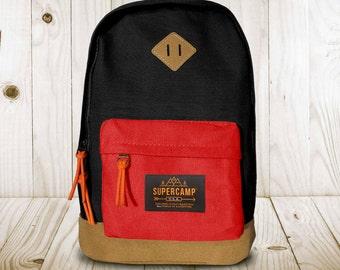 Unisex Backpack - Black/ Pink