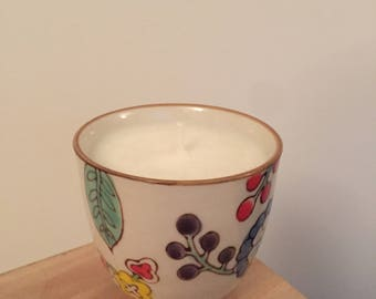 Cute Floral Handmade Candle