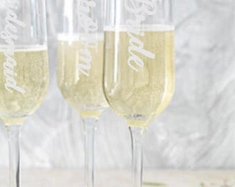 Wedding Personalised Champagne Flutes, Favors, Personalized Glasses, Wedding Reception, First Toast, Top Table