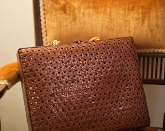 Vintage Asian Oriental woven cane handbag
