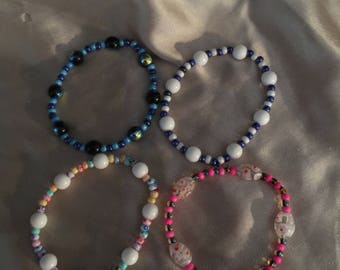 Four pack of stretchy bracelets