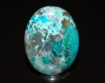 Chrysocolla Cabochon - Polished Blue Gemstone Cabochon - DLML1