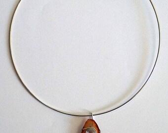 Agathe Orange Stone pendant necklace