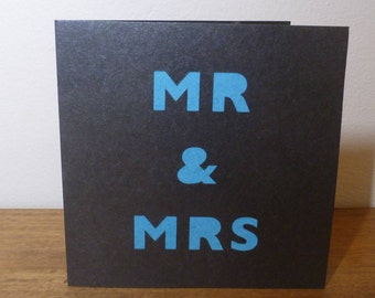 Mr and Mrs Black Paper Cut Card