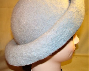 Felted grey hat.