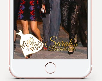 Bachlorette Snapchat Filter, Gold Snap Chat Filter, White Snapchat Filter, On Demand Geofilters, Cursive Snap Chat Filter, Wedding Filters