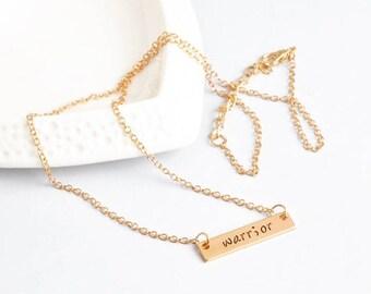 Warrior Semicolon Inspirational Necklace
