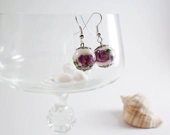 Bridal Purple drop earrings, cheap earrings, purple chandelier earrings, women's vintage earrings, fashion earrings, ladies earrings