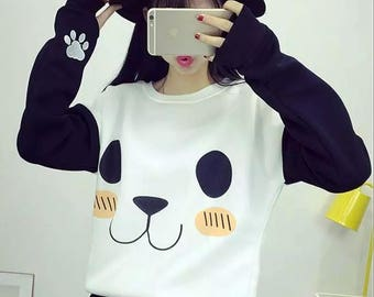 Panda Sweater Cute Panda Harajuku Sweater Kawaii Sweater Animal Sweater Panda Bear Sweater Bear Sweater Kawaii Fashion Korean Fashion