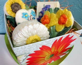 Bouquet of Hand-Painted Floral Soaps