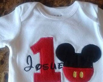 Personalized Embroidery birthday shirt/onesie