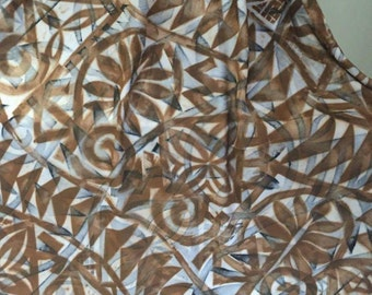Two-Tone Tribal Earth original - fabric by the metre