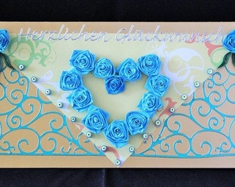 Greeting card, greeting card, quilling