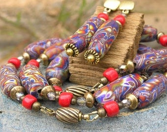 Polimer clay jewelry set