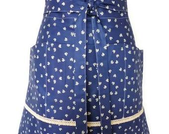 Lady vintage apron Stephanie  Dames retro schort - cotton - half apron
