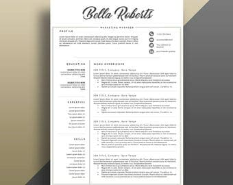 Eye catching resume Etsy