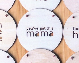 Wall Plaque Roundie - You've Got This Mama